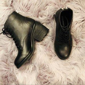 Shoemint Black Ankle bootie combat Boot